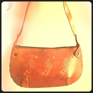 Vintage hand decorated Leather bag in GUC